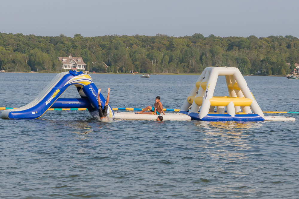 Water park & sandy beach