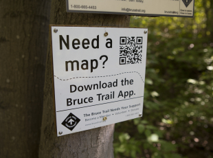 Download the Bruce Trail ap for orientation