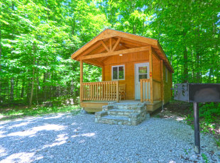 Camping cabins and unique rentals available