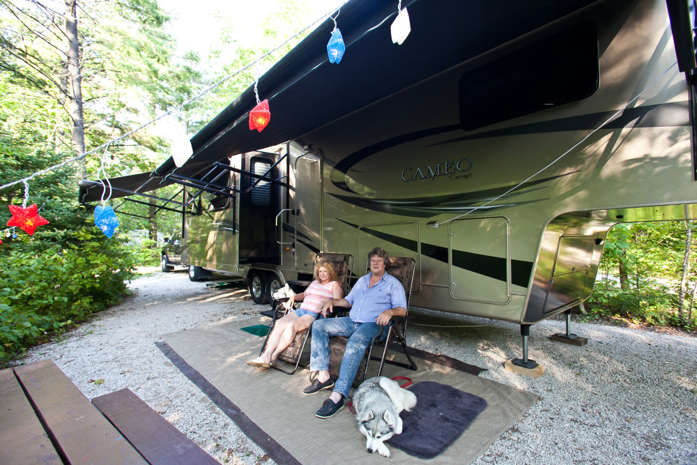 RV camping for large rigs