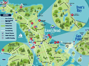 Lion's Head Map